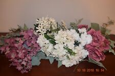 Craft Supplies, Assortment of Artificial Flowers and Leaves, 33 pieces.