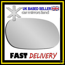 Right Driver Wing Mirror Glass Replacement MITSUBISHI CARISMA 1995-2006 Stick ON