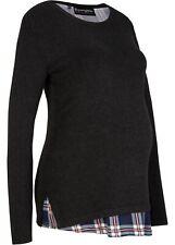 Umstands-Pullover Stillpullover Gr. 52/54 Anthrazit Damenpullover Neu R-Ware*