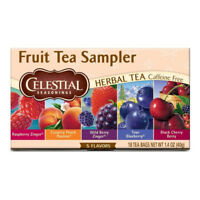 Celestial Seasonings Herbal Tea Bags, Fruit Tea Sampler 18 ea (Pack of 3)