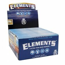 Elements King Size Rice Rolling Papers - Full Box of 50 Packs