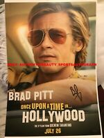 ONCE UPON A TIME IN HOLLYWOOD MOVIE SIGNED BRAD PITT CLIFF BOOTH 12x18 REPRINT