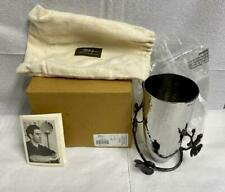 New in Box Michael Aram Black Orchid Small Stainless Steel Vase - 110712