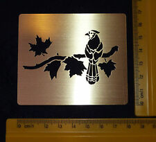 Brass/Metal/stencil/Oblong/Leaf/Leaves/Bird/Roosting/Emboss/NEW