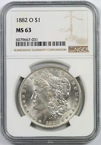 1882-O Morgan Dollar $1 MS 63 NGC