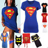 Womens Ladies Short Sleeves Batman Superman Superhero Print T Shirt Top 8/14