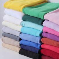 Polar Fleece Fabric Anti Pill Soft Blanket Material Warm Winter Solid Craft Blue