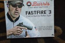 Burris Fastfire 3 3 MOA Red Dot Reflex Sight W/ Mount Mfg # 300234
