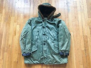 VINTAGE 1940S WWII WW2 US AIR FORCE B-9 PARKA JACKET FLIGHT BOMBER USAAF SZ L/XL