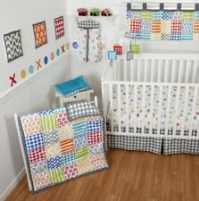 Sumersault 10 Piece Crib Bedding Set, Doodles Bright (Discontinued by Manufactur