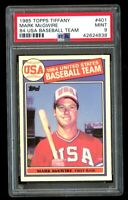 1985 Topps Tiffany Mark McGwire Rookie USA Team RC Mint PSA 9 #401 Glossy A's