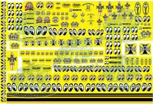 Mooneyes Racing | Moon Eyes Decals for model cars in all popular scales