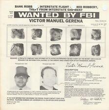 FBI WANTED POSTER VICTOR MANUEL GARENA-INTERSTATE FLIGHT-ROBBERY-THEFT VERSION 2