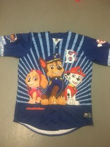 2019 Brooklyn Cyclones #9 Paw Patrol Jersey Size 48 Nickelodeon New York XL