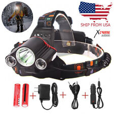 Xtreme 30000 Lumen LED Headlamp XM-L 3x T6 Headlight 18650 Battery Light Charger