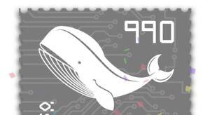Crypto Stamp 3.0, Motiv Wal, NEU / NEW, Schwarz, Ausverkauft / 6 Stellig