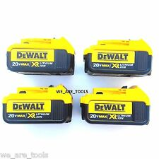 4 New Genuine Dewalt 20V DCB204 4.0 AH Lit-ion Batteries For Drill, Saw, 20 Volt