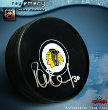 RAY EMERY Chicago Blackhawks Autographed Puck