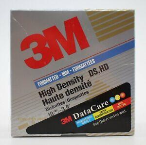 """[3113] 10x 3M Disketten 3,5"""" 1.44 MB IBM formatiert High Density DS HD Neu OVP"""