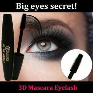 3D Silk Fiber Mascara Extension Makeup Waterproof Eyelashes (Black) - New/Sealed