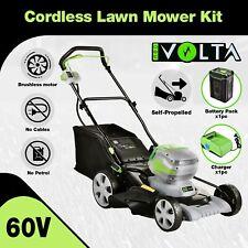 [15%OFF] 60V Cordless Self Propelled Lawn Mower Kit Li-Ion Battery Powered Grass