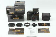 【TOP MINT BOX】 Bronica RF645 Camera Zenzanon 65mm F4 RF20 Flash From JAPAN #1398