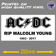 ACDC RIP MALCOLM YOUNG STICKER 200mm decal