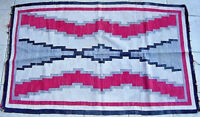 IMPORTANT VERY FINE WEAVE ANTIQUE  NAVAJO RUG WEAVING NATIVE AMERICAN