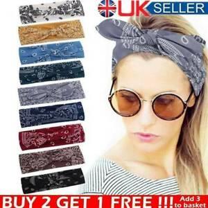 Women's Ladies Elastic Turban Headbands Yoga Hair Bands Sports Bandana Headband