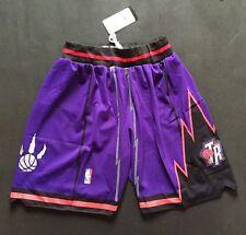 Toronto Raptors!! Basketball Shorts NBA Pants Men s NWT Stitched Stretch  Purple 9b54be702