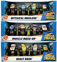 Hot Wheels Monster Trucks Vehicles Cars 1:64 AST 4 Pack