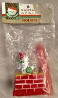 Mid Century Kurt S Adler NY NOS Xmas Tree Ornament Santa's World Chimney VTG