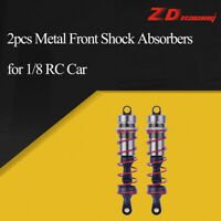 2Pcs ZD Racing Metal Front Shock Absorbers for 1/8 JLB HSP HPI Redcat RC Car