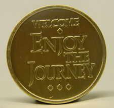 SOBRIETY MEDALLION - BRONZE - WELCOME ENJOY THE JOURNEY   -RECOVERY CHIP
