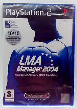 LMA MANAGER 2004 PS2 PLAYSTATION 2 TWO EUROPEAN PAL BRAND NEW & SEALED
