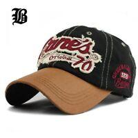 FLB® Hat Cap Snapback Cap Demin Baseball CapFashion Sports Cotton Casquette Bone