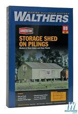 Walthers #931-3529, Storage Shed on Pilings, building  Kit  HO SCALE FREE POST