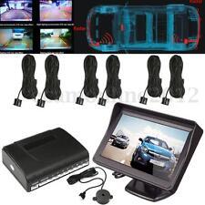 4.3'' LCD Display Monitor W/ Backup Camera + 8 Parking Sensors Radar System Kit