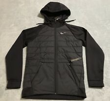 NIKE Therma Winterized Full-Zip Hoodie Men's sz SMALL S BLACK AO1440 010 NWT