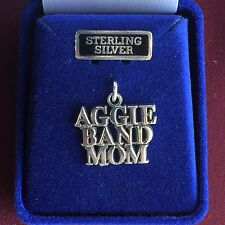 Jewelry Sterling Silver Texas A&M University Aggie Band Mom Charm ATM TAMU