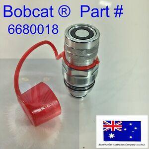 Female Hydraulic Coupler & Cap fits Bobcat S595 S630 S650 S740 S750 S770 S850