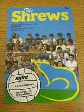 22/10/1983 Shrewsbury Town v Fulham  (No Major Faults Noted)