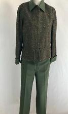Raffinalla Le Collezioni Olive Green Pants Suit, Women's Size 8