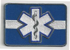 EMERGENCY MEDICAL TECHNICIAN - THIN WHITE LINE - IRON or SEW PATCH