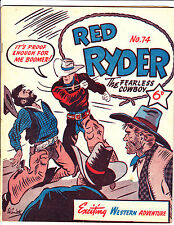 "Red Ryder No 74 1950's -Australian-""Boomer Punched Cover ! """