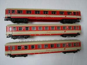 LOT HO Trains 3 Vintage Liliput German Passenger Car Set Germany Roco
