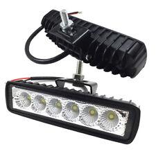 6 in 30W Led Work Light Bar Pods Flood 12V 24V For Jeep Pickup Offroad SUV ATV