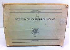 RARE HUGE 1st Ed 1954 Bulletin 170 So. California Mining Geology Report 63 maps