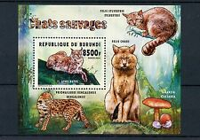 Burundi 2014 MNH Wild Cats 1v S/S Fauna Chats Sauvages Bobcat