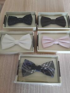 NEW IN BOXES 5 TIE RACK 100% SILK QUALITY  BOWTIES